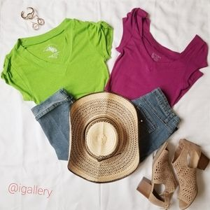 Two sweater short sleeve TEE